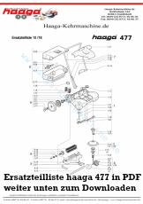 Ersatzteile Haaga 477 ohne I Sweep