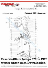 Ersatzteile Haaga 677 AKKU mit I Sweep