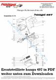 Ersatzteile Haaga 497 ohne I Sweep